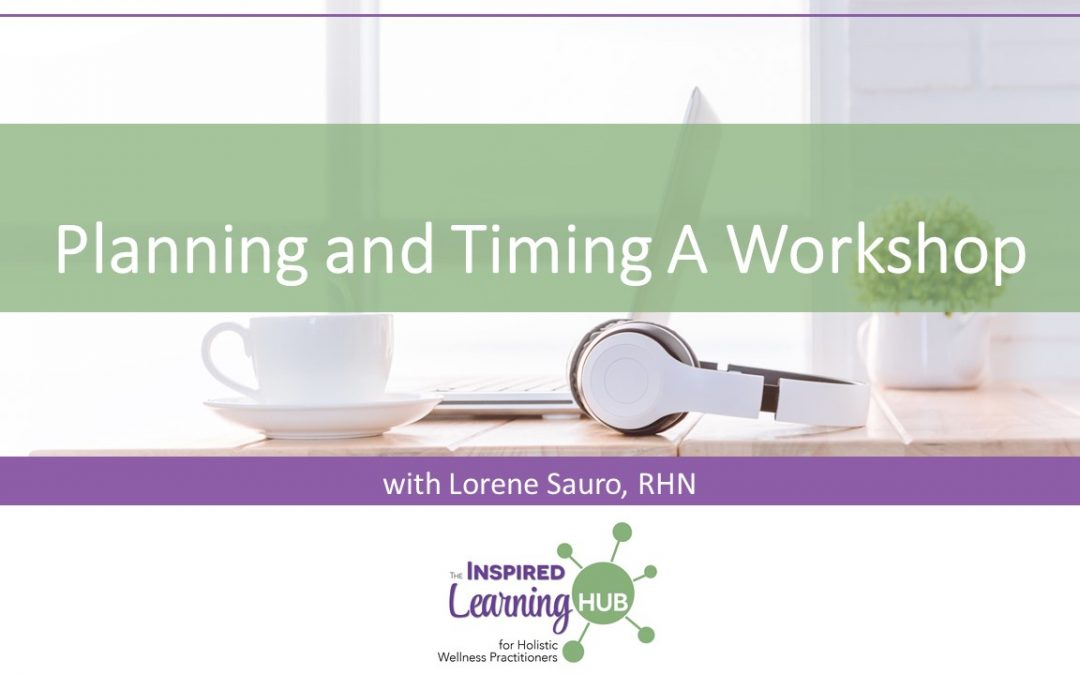 Planning and Timing A Workshop